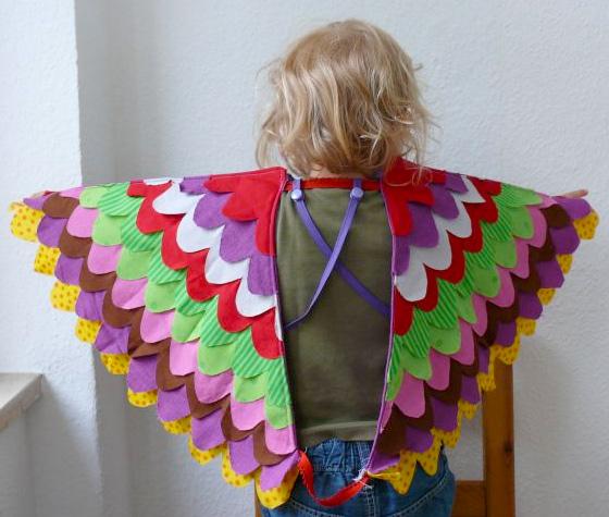 Flügel nähen, Stoff, Tutorial, farbenmix