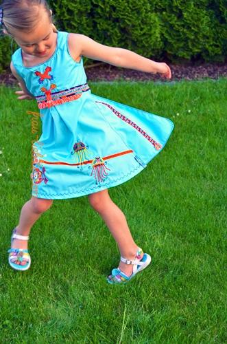 HALIMA Schnittmuster Kleid Schürzenkleid farbenmix