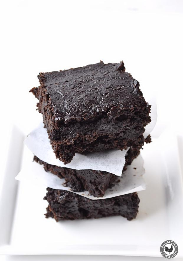 Dark Chocolate Stout Brownies - Farmgirl Gourmet