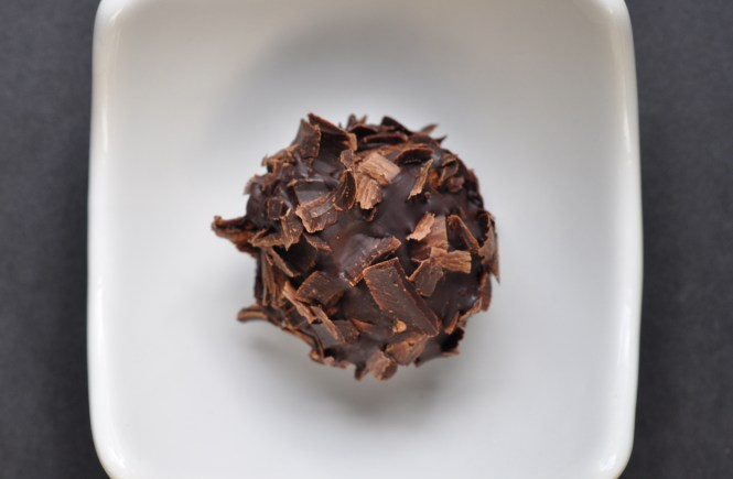 Triple Chocolate Mosto Cotto Truffles via farmgirlgourmet.com