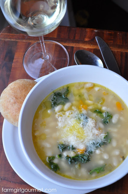 Emeril's Tuscan White Bean Soup   farmgirlgourmet.com