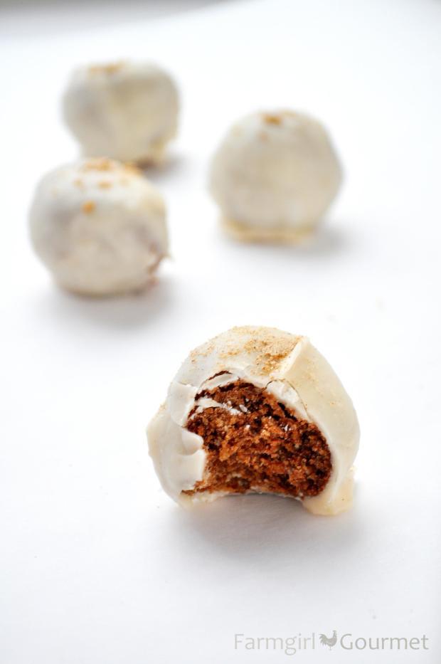 Eggnog Bourbon Balls - Farmgirl Gourmet