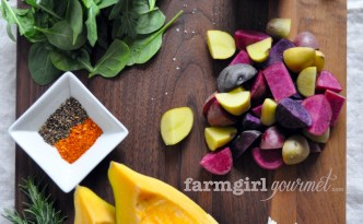 Warm Potato & Acorn Squash Salad | farmgirlgourmet.com