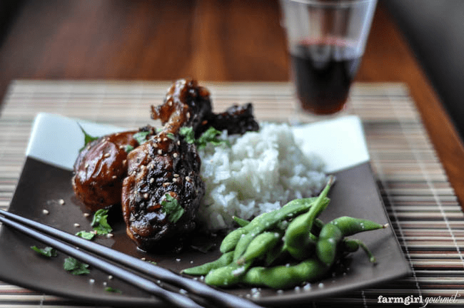Slow Cooker Sticky Chicken Drumsticks | farmgirlgourmet.com