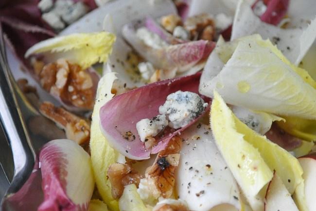 Endive Salad with Stilton, Pear & Walnuts   farmgirlgourmet.com