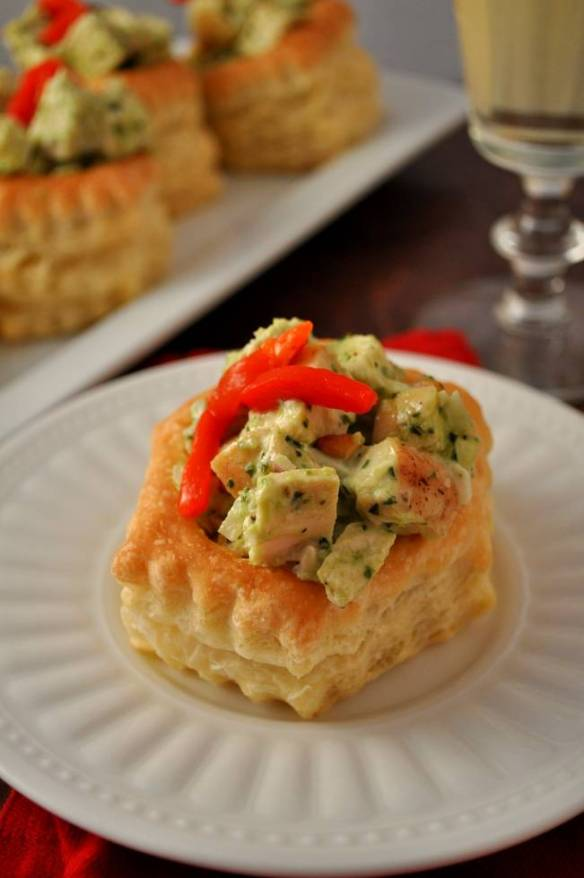 Puff Pastry Pesto Chicken | farmgirlgourmet.com #appetizers #holidayrecipes