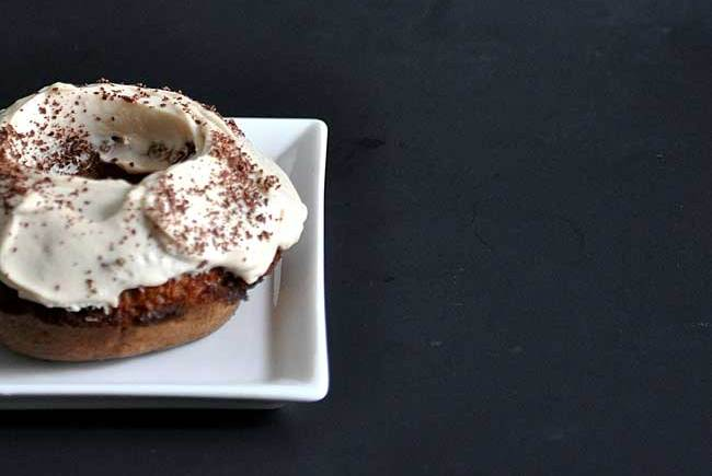 Kahlua and Cream Doughnuts | farmgirlgourmet.com #doughnutweek