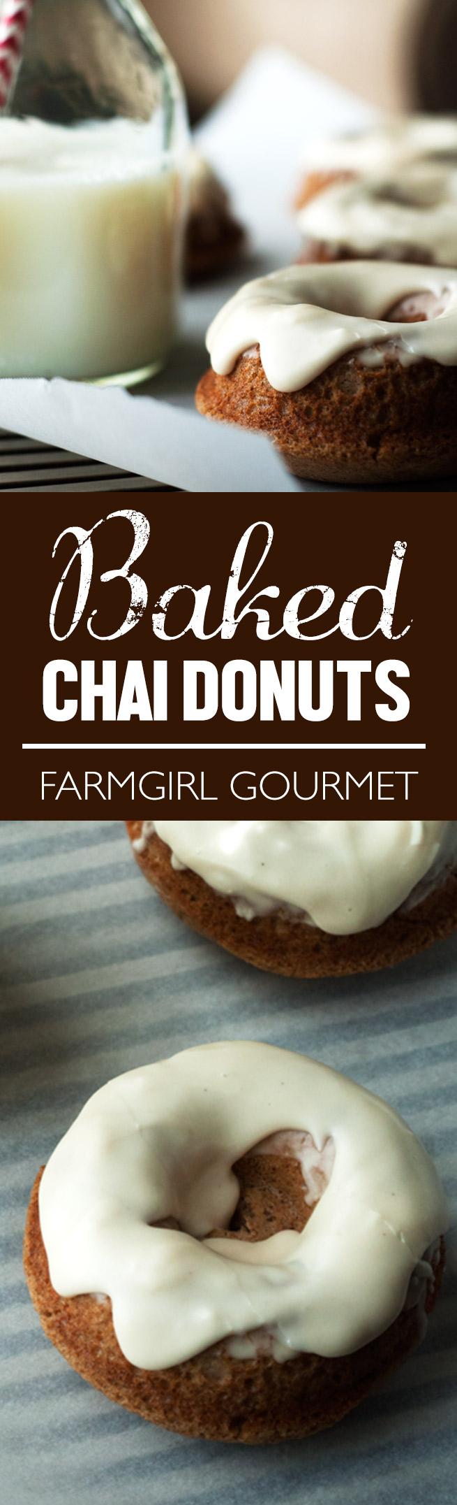 Baked Chai Donuts recipe | farmgirlgourmet.com