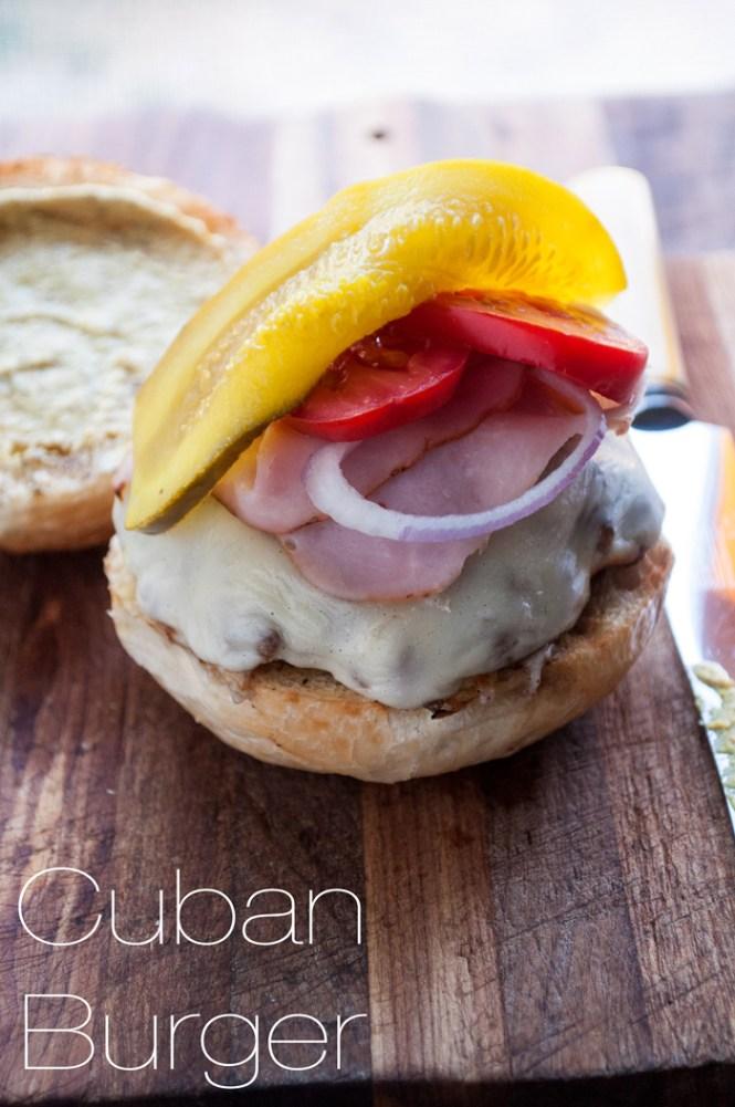 Cuban Burger | farmgirlgourmet.com