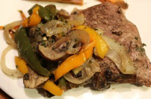 Oven Roasted Round Steak and Veggies