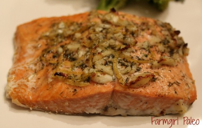 Paleo Zesty Garlic Salmon