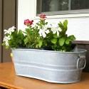 Distressing Galvanized Metal Tubs -DIY