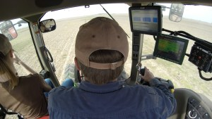 In the tractor during planting