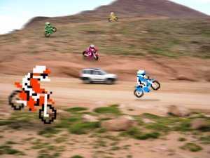 retro dirttrack   excitebike   by retronoobpng Videojocs on life
