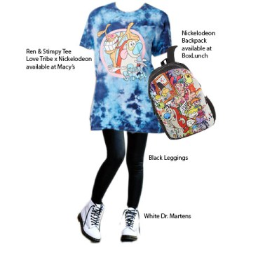 love tribe, nickelodeon, rugrats, ren and stimpy, macy's, new york, herald square, geek chic, fashionably nerdy, boxlunch, dr martens