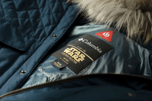columbia, star wars, jackets, geek chic, fashionably nerdy