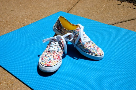 Emily from Fashion By Committee- Splatter print Target sneakers