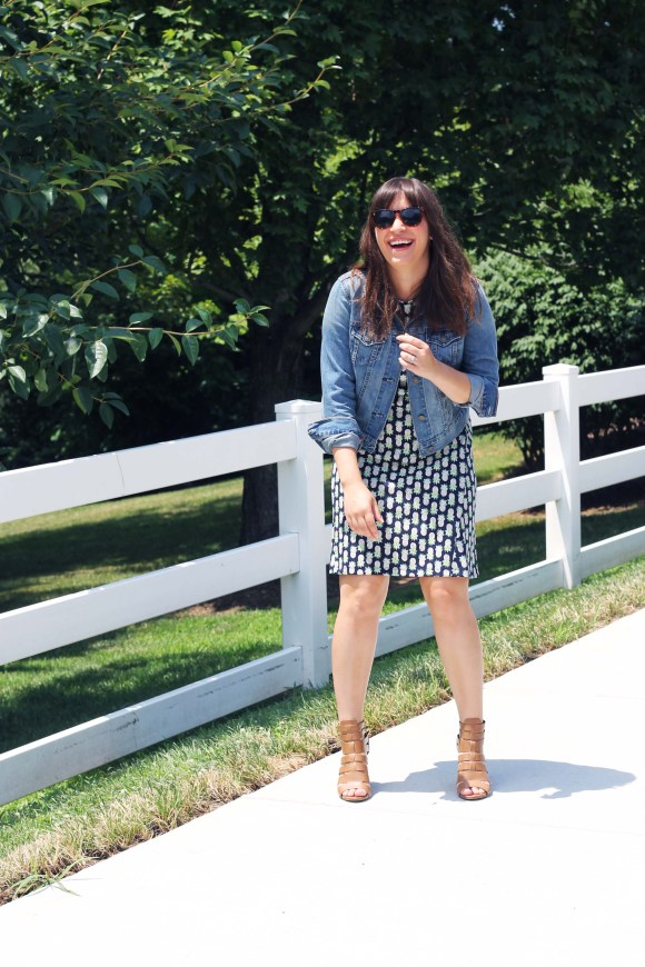Jeanne FBC the-limited-pineapple-a-line-dress-old-navy-cropped-denim-jacket-circus-by-sam-edelman-cognac-heels-tortoise-shell-oversized-sunglasses 10