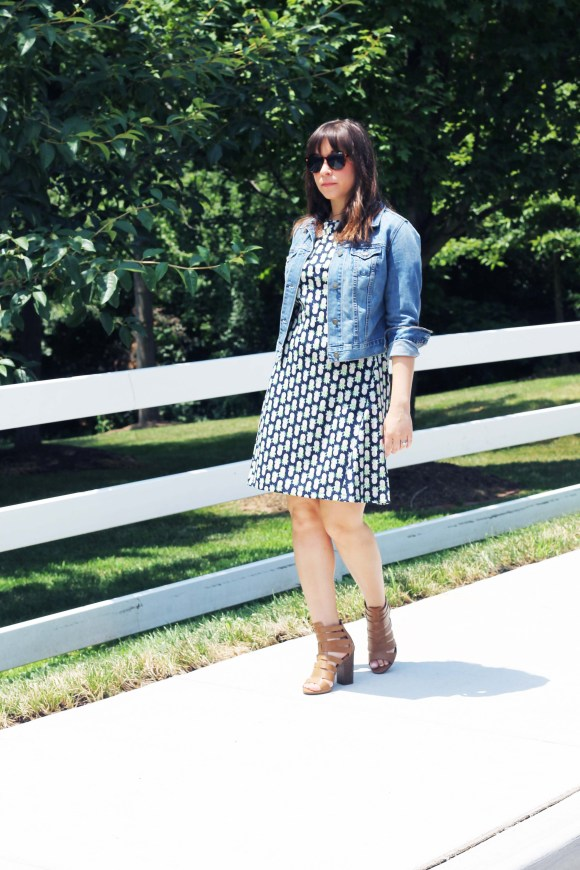 Jeanne FBC the-limited-pineapple-a-line-dress-old-navy-cropped-denim-jacket-circus-by-sam-edelman-cognac-heels-tortoise-shell-oversized-sunglasses 7