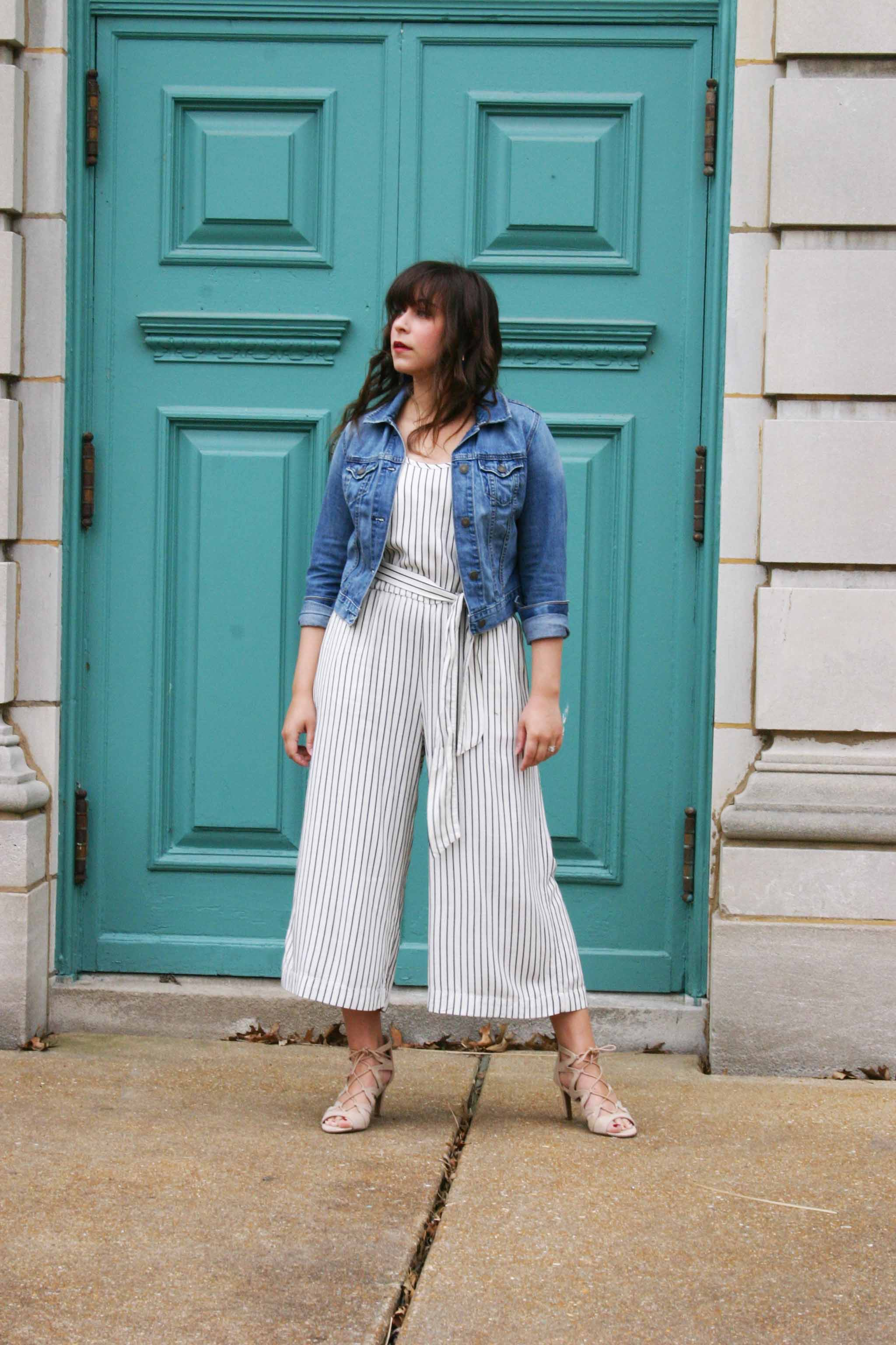 Old Navy Blue And White Striped Jumpsuit Down To Earth Bali