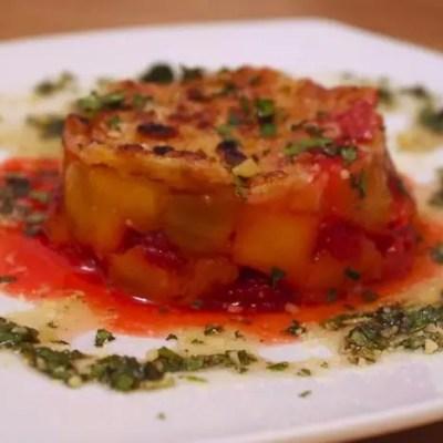 Crumble mangues-framboises & Sauce Mojito