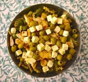 Salade de pâtes Green & Soupe de fraise