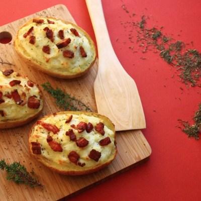 Pommes de terre cuites deux fois (Twice-baked potatoes)