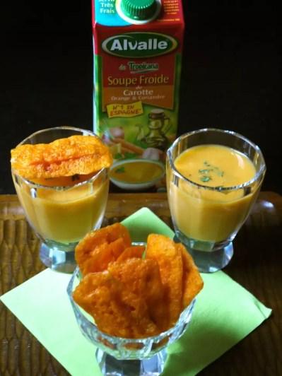 Soupe carotte Alvalle chips mimolette carotte