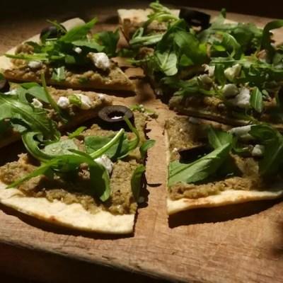 Pitza aux Olives d'Espagne & Palets chocolatés à la poudre d'olives
