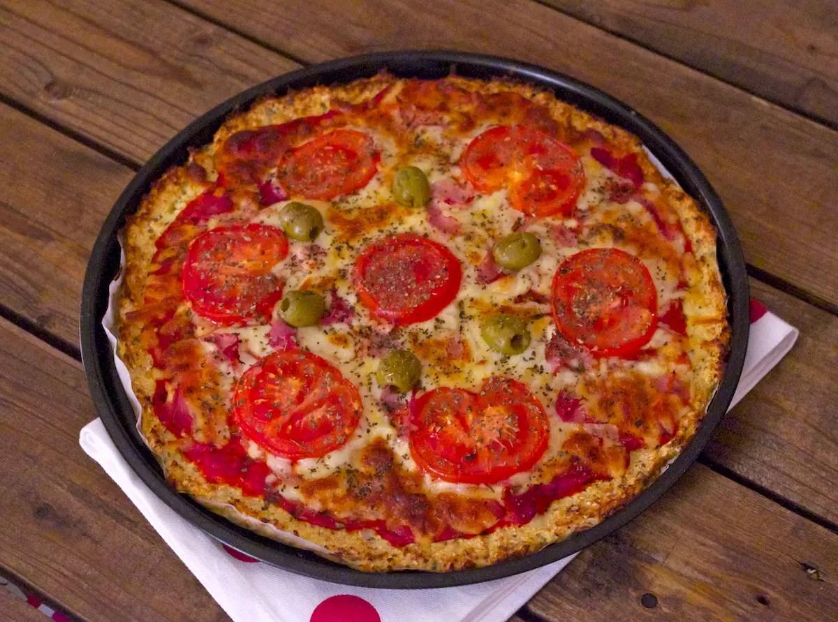 Pizza croûte chou-fleur