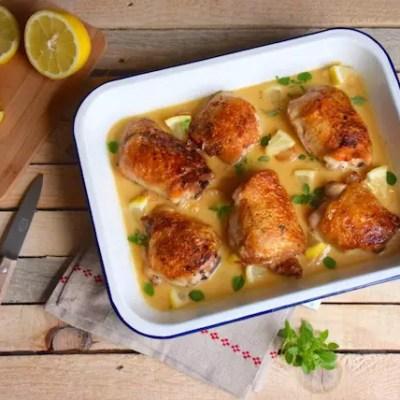 Poulet crémeux ail-citron