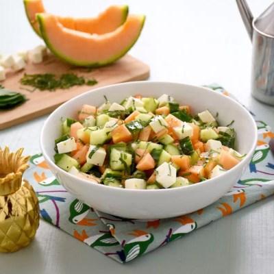 Fraîcheur extrême – Salade melon concombre