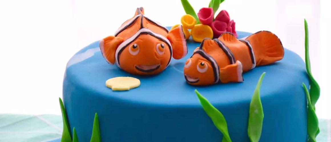 Monde aquatique – Gateau Nemo (modelages en pâte à sucre)
