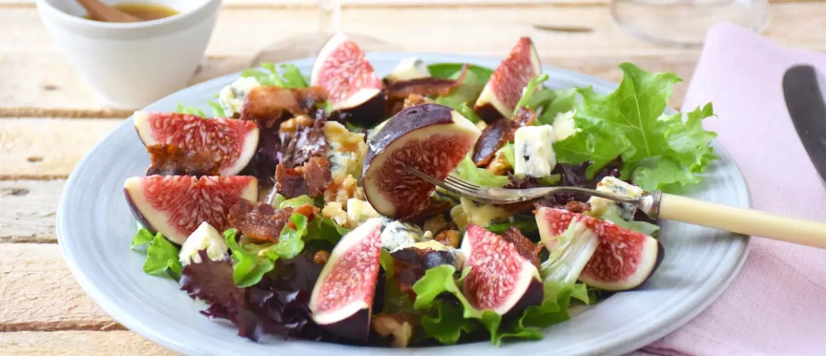 Salade automnale – Salade figues roquefort noix