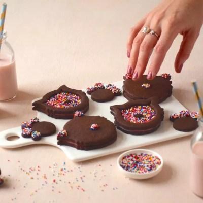 Miiiaaaouuu! – Biscuits chats chocolat-framboise