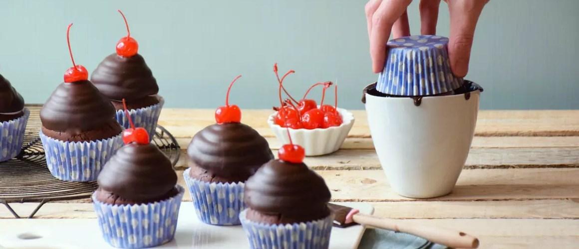 Hi Hat cupcakes (glaçage meringue & chocolat craquant)