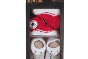 Converse Baby 2-er Geschenk-Set Socken rot-weiß