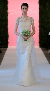 Oscar de la Renta Features Flower Girls, Lace at Bridal Spring 2015 Show