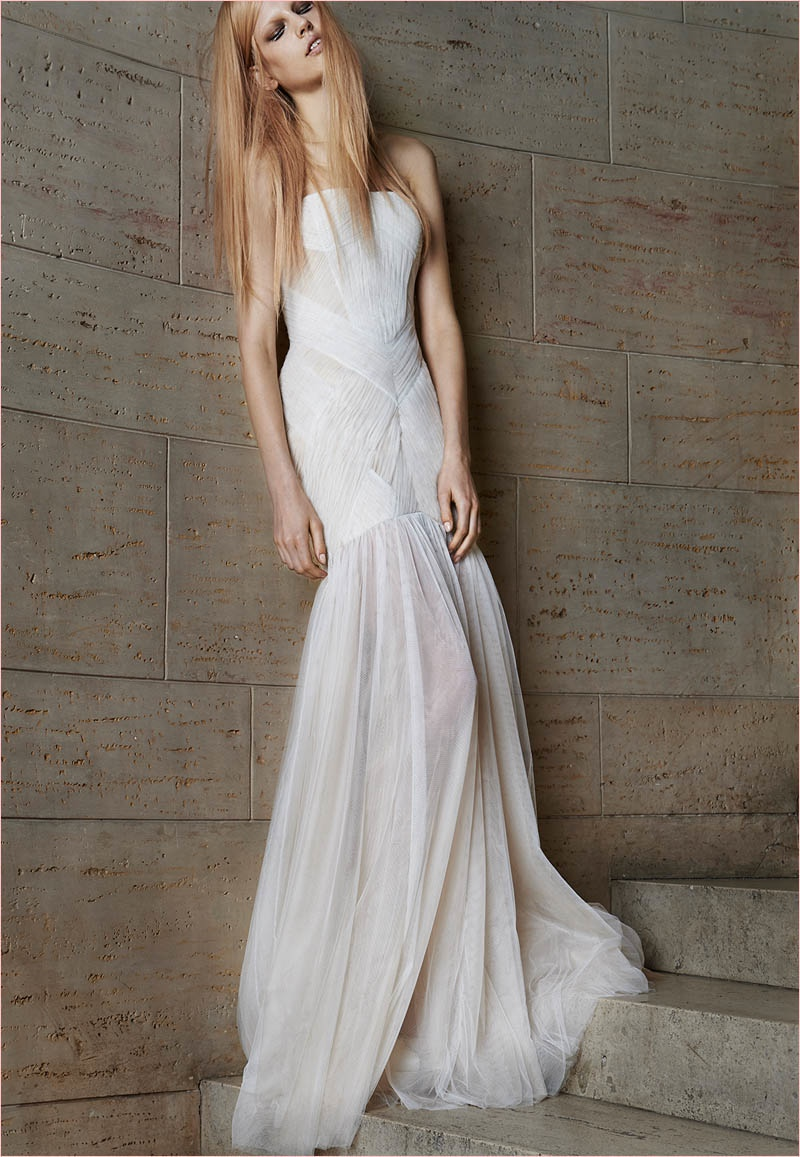 Vera wang bridal spring 2015 wedding dresses for Vera wang used wedding dress