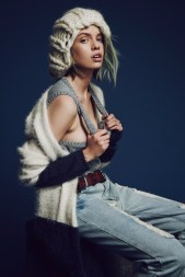Stella Maxwell Models For Love & Lemons Pre Fall Collection