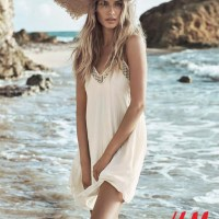 Natasha Poly is a Beach Beauty for H&M Summer Shoot