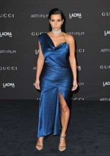 Kim-Kardashian-2014-Blue-Dress-Slit