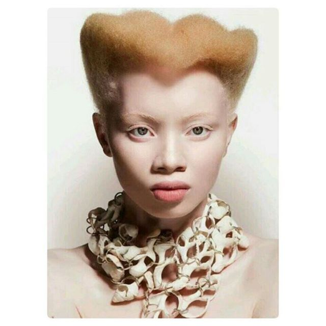 The gorgeousthandohopa ThandoHopa blackisbeautiful Stunning SouthAfrica Africa Albino FaceOfFashion FashionMeetsMusichellip
