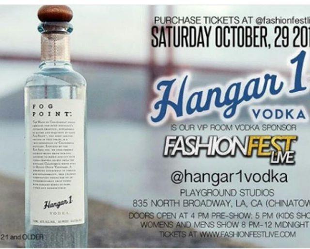 hangar1vodka on board as the official Vodka Sponsor for fashionfestlivehellip
