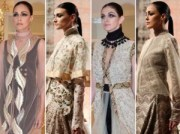 anamika khanna jewelled scarves 600x4501 300x224 Top 3 Couturiers @ PCJ Delhi Couture Week 2012