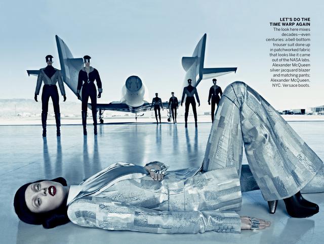 Vogue September Issue 2012 Karen Elson Virgin Galactic