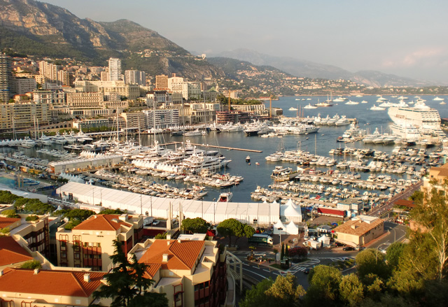 Monaco Harbour- View from Prince's Palace