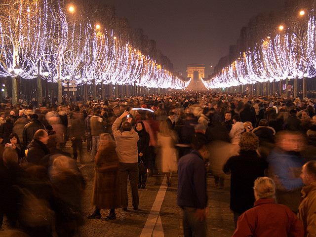 Paris Champs Elysees New Years Eve