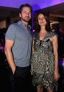 Gerard Butler (L) and Karla Otto