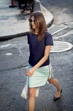 Charity Shirt, Tamarrah Skirt, Brooke Tote – White